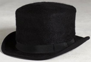 John Varvatos Rabbit Hair Tophat: US$398.