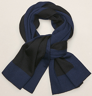 Kenneth Cole Merino colorblock men's scarf: US$148.