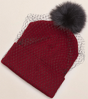 Kenneth Cole Milou fox beanie women's hat: US$95.