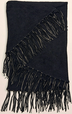 Kenneth Cole Milou leather-fringed Minerva women's scarf: US$178.