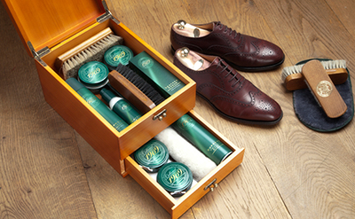 Collonil shoe care products.