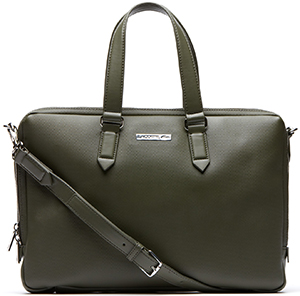 Lacoste Edward Computer Bag in Leather: £280.