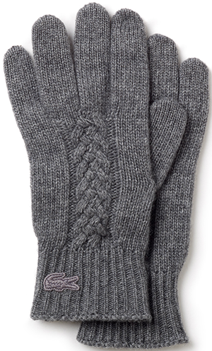 Lacoste Men's & Women's Gloves in Cable Knit Wool: £60.