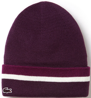 Lacoste Three-Tone Women's Beanie in Wool and Cotton: £55.