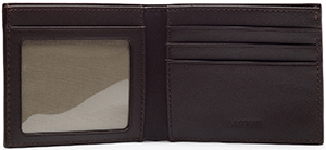 Lacoste Billfold in Leather with ID Card Holder: £70.