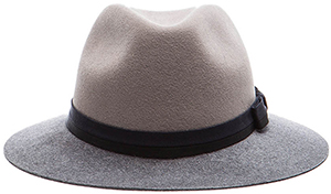 Lanvin Double Ribbon Felt Bicolor men's hat.