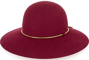 Lanvin Chain-trimmed rabbit-felt women's hat: US$890.