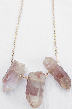 Littledoe Handcrafted Lithium Terminated Quartz Women's Necklace: US$475.