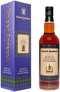 Kinloch Anderson Highland Single Malt Scotch Whisky.