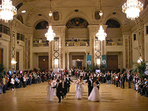 Cotillion figures demonstrated in the Festsaal, Hofburg, Vienna, in 2008.