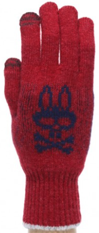 Psycho Bunny Mackies Basic Glove - Pinot Black: US$50.