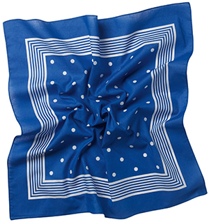 Roderick Charles Bandana Royal Blue/White: £9.50.