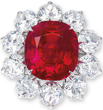 The Crimson Flame 15.04 carats Ruby.