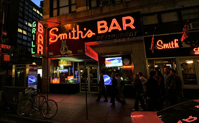 Smith's Bar, on the corner of 44th and 8th, New York City, NY.