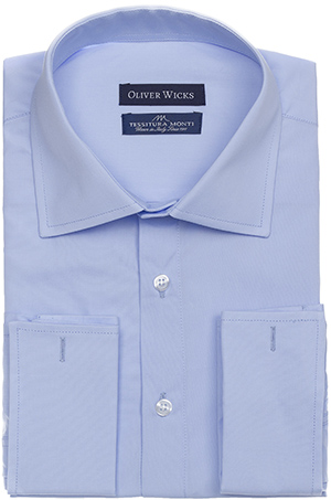 Oliver Wicks men's spy wear light blue poplin shirt: US$139.