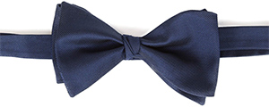 Oliver Wicks Charcoal Blue Italian 100% Silk Bow Tie: US$39.