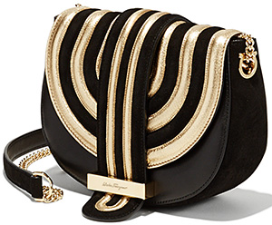 Salvatore Ferragamo Mini Wave Flap Shoulder Bag: US$2,100.