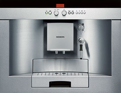 Siemens avantGarde built-in coffee maker.