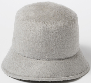 Clyde women's 100% angora Bucket hat made in long haired beaver style felt: US$328.
