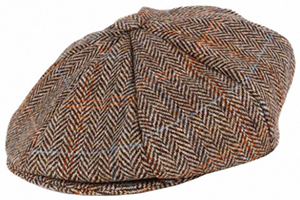 Dents Harris Tweed 8 Piece Cap: £35.