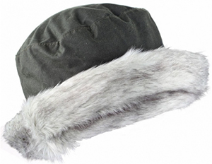 Dents Wax Cotton Hat with Faux Fur Brim: £35.