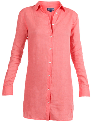 Vilebrequin Long Linen Women's Shirt Resortwear Solid: US$220.