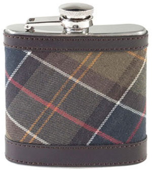 Barbour hip flask.
