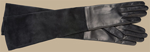 Trussardi Women's Long silk-lined gloves. Material: suede and nappa.
