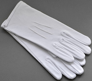 Wessex men's white evening gloves.
