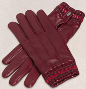Zilli Men's Burgundy Gloves.