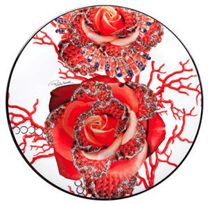 Amara Roberto Cavalli Platinum Rose Jewel Charger Plate: US$221.