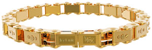 IceLink Gold PVD Thin Link Unisex Bicycle Bracelet: US$199.