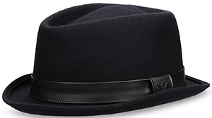 Emporio Armani Classic men's hat in felt: US$175.