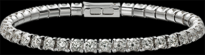 Cartier Classic Diamond Bracelet - Lignes Essentielles bracelet, 18K white gold, set with 47 brilliant-cut diamonds totaling 6.38 carats.
