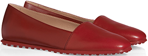 Tod's Women's Red Leather Slippers.