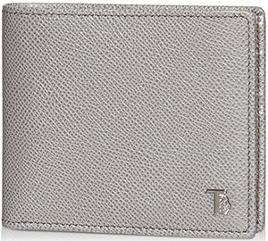 Tod's Grey Leather Men's Wallet.