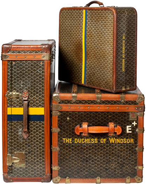 Goyard bespoke luggage made for the Duchess of Windsor.