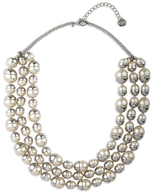 Jaeger Capped Pearl Necklace: £85.