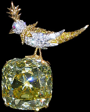 Jean Schlumberger The brooch 'Bird on a Rock' with the famous Tiffany Yellow Diamond.