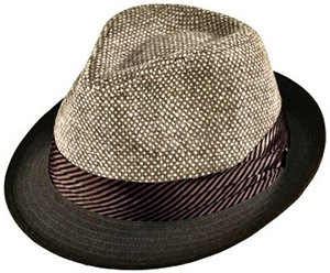 Geoffrey Beene Wool Blend Gentleman Fedora Satin Lined Solid Brim Tweed Crown: US$45.95.