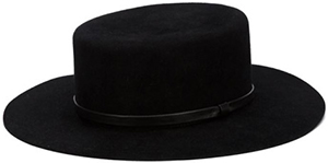 Black rabbit fur felt 'Cordobes' hat from Gladys Tamez Millinery featuring a wide brim and a leather band: €849.