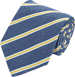 Isaia Chevron & Diagonal Stripe Neck Tie: US$235.