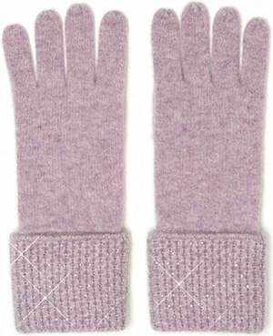 William Sharp Mini diamond stitch women's gloves with 1cm crystal scatter on cuff: £241.