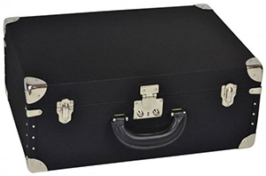 Luis Negri black canvas pilot suitcase.