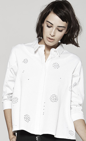 Drifter Ameise Flared Button-Front Shirt w/ Ants: US$245.