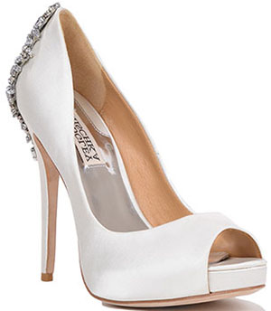 Badgley Mischka Kiara Embellished Peep Toe Pump: US$245.