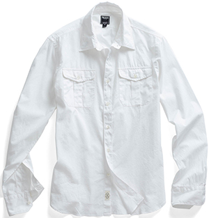 Todd Snyder Dante Military Men's Shirt in White: US$245.