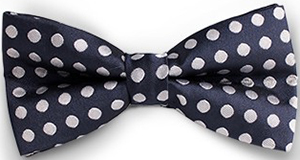 Tailor4Less Essential Blue Dotted Bowtie: US$25.95.
