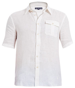 Vilebrequin Classic Linen Men's Shirt Resortwear Solid: US$250.