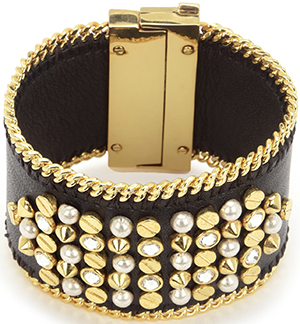 Juicy Couture Stud Embellished Leather Cuff Bracelet: US$128.